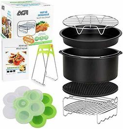 8 inch XL Air Fryer Accessories Set of 10 Fit all Growise Ph