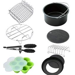 8PCS XL Air Fryer Accessories 8 Inch for Gowise Phillips Pow