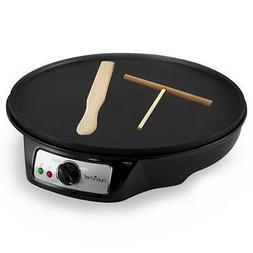 Nonstick 12-Inch Electric Crepe Maker - Aluminum Griddle Hot