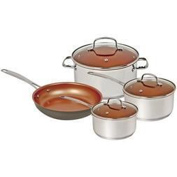 Nuwave Duralon Ceramic Nonstick 7 Pc. Cookware Set