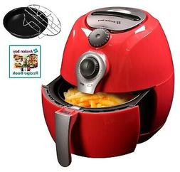 Avalon Bay AB-Airfryer100R 3.7QT Airfryer in Red