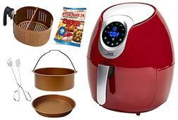 Power Air Fryer XL 3.4 QT Delux Red Air Fryer
