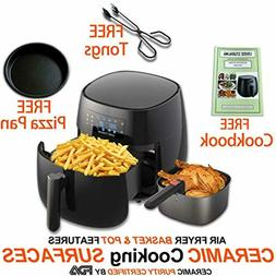 Air Fryer, 7-in-1 Pre-programmed One-touch Settings, Cookboo