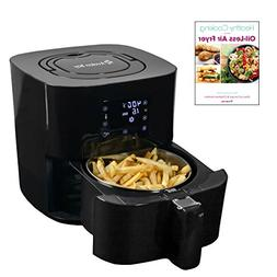 Avalon Bay Digital Air Fryer with Stainless Steel Basket, Fo