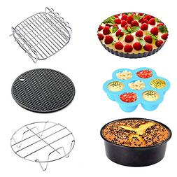 Sonyabecca Air Fryer Accessories 6pcs for Growise Phillips C