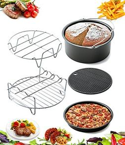 5 Piece Air Fryer Accessories by AIQI, Including Cake Barrel