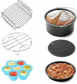 Air Fryer Accessories 6 Pcs Fit All 3.7 Qt - 5.3 Qt Multi-Pu