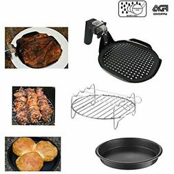 Air Fryer Accessories Set, Grill pan, Grill Rack with Skewer