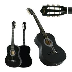 "38""  Acoustic Guitar Full Size Adult Black Includes Guitar P"