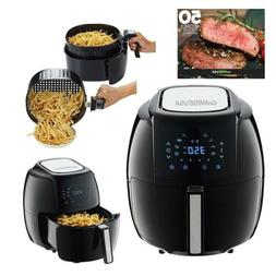 Air Fryer Electric XL 8 In 1 5.8 Quart 50 Recipes Book Bakin