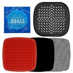Air Fryer Grill Pan Bundle Accessories Compatible with Phili