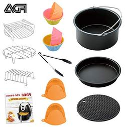 Air Fryer Accessories 7 Inch for 3.7 qt Air Fryer, 9 pieces