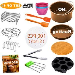 XL Air Fryer Accessories, Set of 14 for Gowise Phillips Cozy