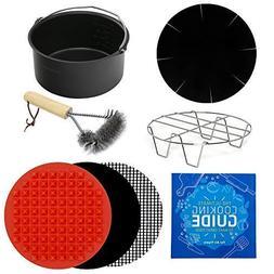 Air Fryer Power Accessories Baking Pan, Cooking Mats, Rack,