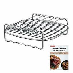 Air Fryer Rack XL Accessories 5 Skewers Cooks Essentials XL