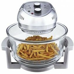 Air Fryer Silver 16-Qt Oil-less 1300-W Control Temperature T
