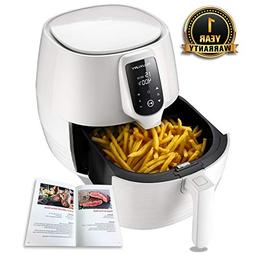 Air Fryer XL, 5.8QT Electric Large Deep Fryer Oil-free Touch