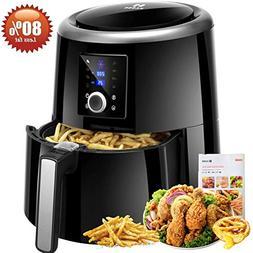Habor Air Fryer XL, 5.8QT Oilless Air Fryer Oven, 7 Cooking