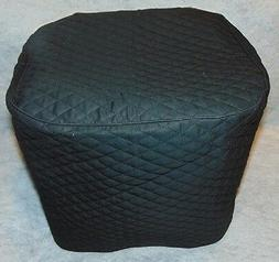 Black  Quilted Fabric 3 Qt ~or~ 5.3 Qt Air Fryer Cover NEW