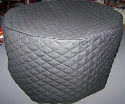 Black  Quilted Fabric Round Air Fryer Cover NEW