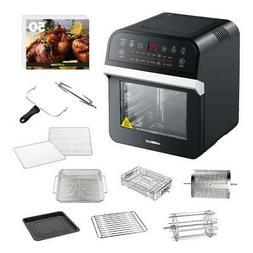 Black Rotisserie Oven and 12.7 Qt. Electric Air Fryer Comes