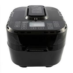 NuWave Brio 10 Qt Digital Large Air Fryer, Black - One-Touch
