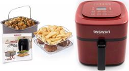 Nuwave Brio 6 Qt. Air Fryer with Gourmet Accessory Kit - Red
