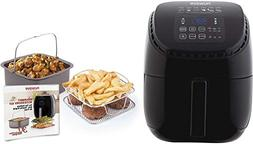 NuWave Brio Black Digital Air Fryer - 3 Quart with NuWave Br