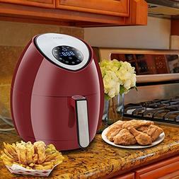 ZENY Burgundy 7-in-1 Touch Screen Control Electric Air Fryer