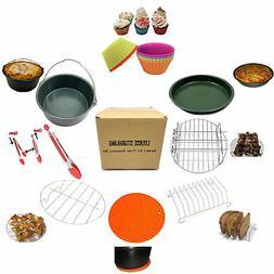 LOUISE STURHLING 8-Piece Ceramic Air Fryer Accessory Set. Fi