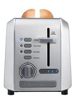 Chefman Stainless Steel 2-Slice Wide Slot Toaster w/ Bagel,