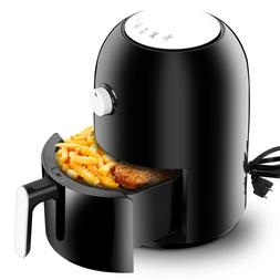 Compact Air Fryer 2L Oven Time Control Cooking Basket Divide