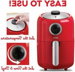 Compact Air Fryer Oven Cooker Non Stick Fry Basket Temperatu