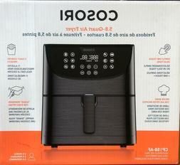 Cosori CP158-AF Premium Max XL 5.8 qt. Air Fryer  Black, New