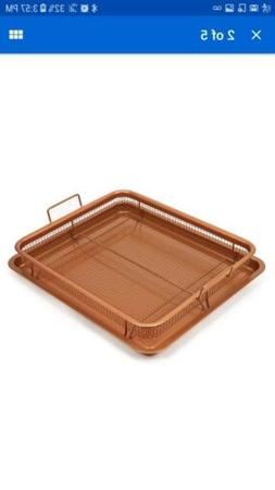2-Piece Copper Crisper Oven Air Fryer Pan Set by Copper Chef