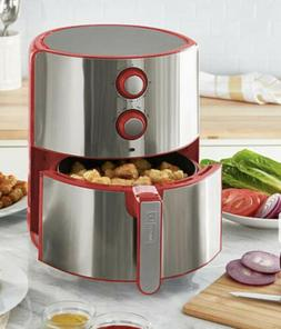 DASH Chef Series 5 Quart Nonstick Air Fryer Red/ with Silver