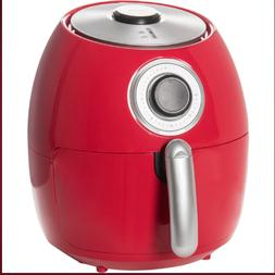 Dash Family Air Fryer - 6 qt., Red Easy-to-use rotary contro