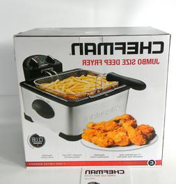 Chefman Deep Fryer w/Basket Strainer Perfect For Chicken, Sh