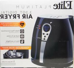 Elite Platinum EAF 05SS Digital Air  Fryer Cooker 3.2 Quart