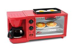 Elite Delux EBK-300R Deluxe Breakfast Station, X-Large, Red