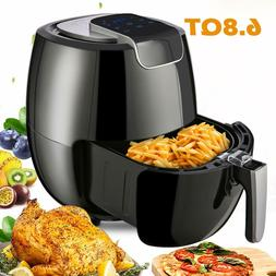 Electric Air Fryer 6.8Qt 1800W LCD Display Temperature Contr