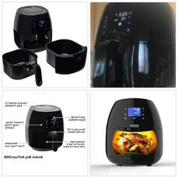 Electric Air Fryer Digital Programs Control Detachable Baske