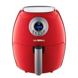 GoWISE USA Electric Digital Air Fryer w Button Guard Detacha