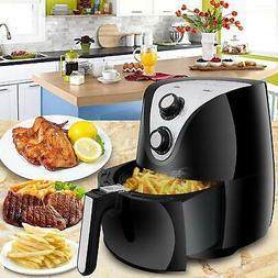 SUPER DEAL Electric Air Fryer XL 3.7 Quart 1500W w/Timer Tem