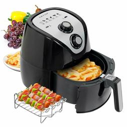 Electric Hot Air Fryer 4 Liter 4.2 Qt Large 1500 Watt BBQ Ra
