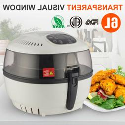 Electric Large Air Fryer W/8 Cooking Presets Temperature Con