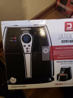 Chefman - Express 2.5L Digital Air Fryer - Black/Stainless S