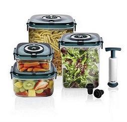 Nuwave Flavor Lockers Food Storage System Vacum Containers -