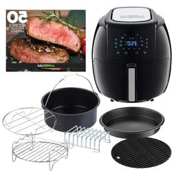 GoWise Air Fryer XL w/ 6-PC Accessory Set + Free 50 Recipes