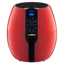 GoWise GW22639 3.7 Qt. Air Fryer with 8-Cook Presets, Red